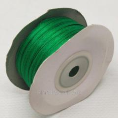 Лента атласная 0,3 см. (3мм) зеленая (СИНДТЕКС-0784)