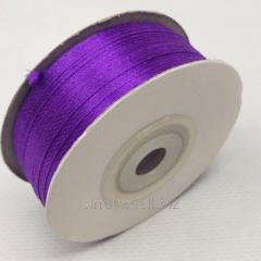 Лента атласная 0,3 см. (3мм) фиолетовая (СИНДТЕКС-0786)