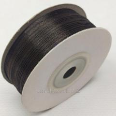 Лента атласная 0,3 см. (3мм) шоколадная (СИНДТЕКС-0872)