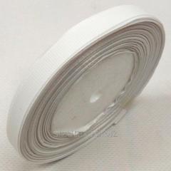 Лента репсовая 1 см. (10мм) белая (СИНДТЕКС-0