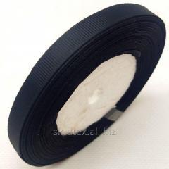 Лента репсовая 1 см. (10мм) черная (СИНДТЕКС-
