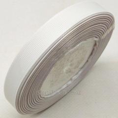 Лента репсовая 1,5 см. (15мм) белая (СИНДТЕКС-0799)