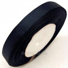 Лента репсовая 1,5 см. (15мм) черная (СИНДТЕКС-0800)