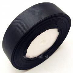 Лента репсовая 2,5 см. (25мм) черная (СИНДТЕКС-0804)