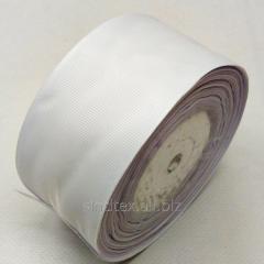 Лента репсовая 5 см. (50мм) белая (СИНДТЕКС-0807)
