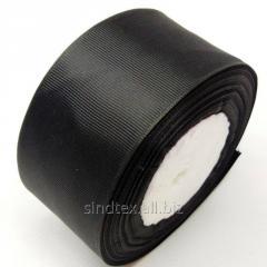 Лента репсовая 5 см. (50мм) черная (СИНДТЕКС-