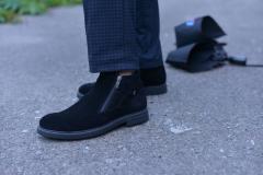 Ботинки замшевые классика черные