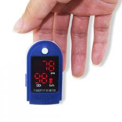 Пульсометр на палец LYG 88 Pulse Oximeter Blue 4