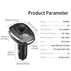 Зарядное устройство USBх2, Essager Bluetooth...