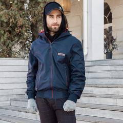 Куртка мужская ветровка темно-синяя, размер 50