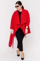 Кардиган из шерсти Кофта красный, размер XL-2XL