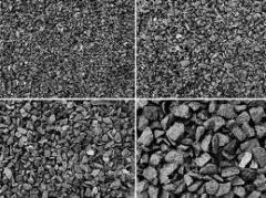 Loose, road materials, crushed stone