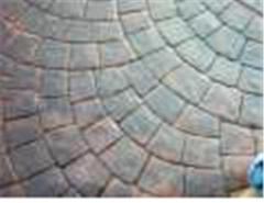 Decorative stamped concrete, decorative printing