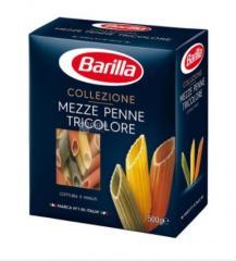 Barilla Mezze Penne Tricolore, 500 г, Макароны