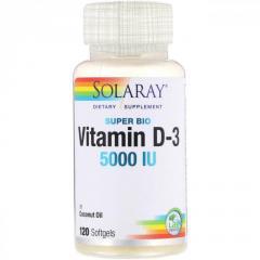 Супер био витамин D-3 Solaray,  5 000 МЕ, ...