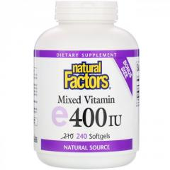 Смешанный витамин Е Natural Factors,  240...
