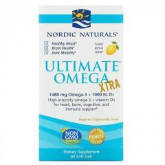 Омега Экстра Nordic Naturals,  вкус лимона, ...