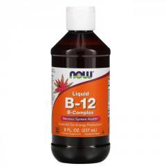 B-12 Now Foods,  жидкий,  комплекс витамина...