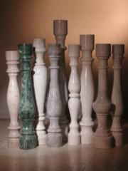 Rail-posts from marble, elements decorative and