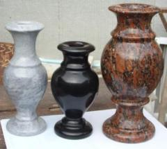 Vases from granite, marble under the order to buy