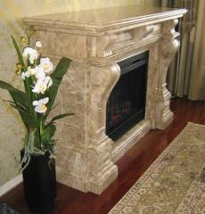 Fireplaces from natural marble, the furnace,