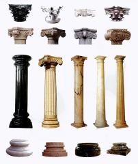 Columns marble, elements decorative and finishing