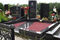Monuments from granite, marble under the order,