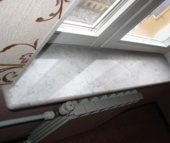 Window sills from a stone, marble, granite under