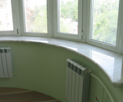Window sills from marble and granite, products