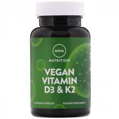 Витамины D3 и K2 MRM для веганов,  60...