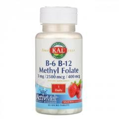 KAL,  B-6 B-12 Methyl Folate,  Mixed Berry, ...