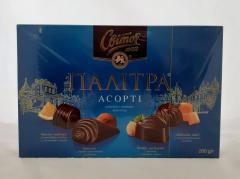 Цукерки палітра асорті в темному шоколаді...