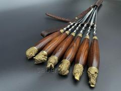 A set of Skewers the Falcon From 6 Pieces In the