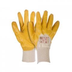 Перчатки рабочие RNITZ покрыты нитрилом