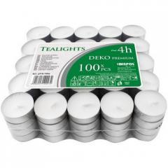 Свеча чайная BISPOL 4 часа 100шт