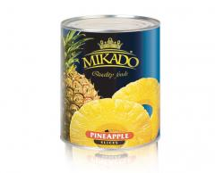 Pineapples rings and pieces tinned MIKADO