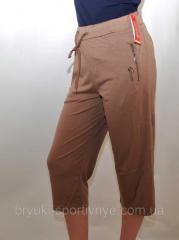 Бриджи женские трикотажные M - XXXL коричневый, M
