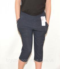 Бриджи женские большие размеры - Узор L\XL Синий