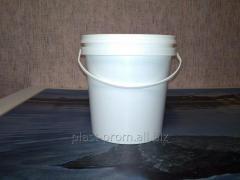 Ведро полипропиленовое 1,1 литр, белое