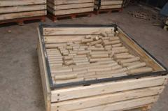 Production of fuel briquettes from wood waste.