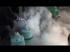 Liquid nitrogen, liquid helium, liquid ozone and