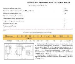 Сепараторы магнитные очистительные ФММ-26