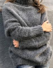 Теплый мягкий махеровый свитер