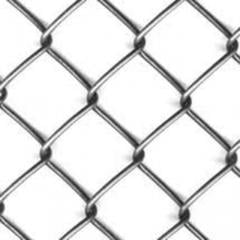 Grid the Chain-link without covering and zinced