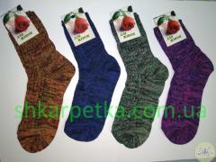 Women's melange half-wool socks