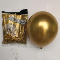 Хром 30 см золоті латексні повітряні кульки, Китай