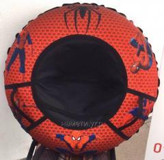 Тюбинг санки-ватрушка снежная плюшка бублик надувные санки для мальчика 105 см