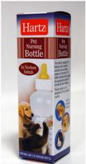 Small bottle with a pacifier for puppies of Hartz