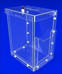 Ящик для сбора денег и анкет с карманом для