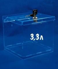 Ящик для пожертвований с замком, акрил 1.8 мм,